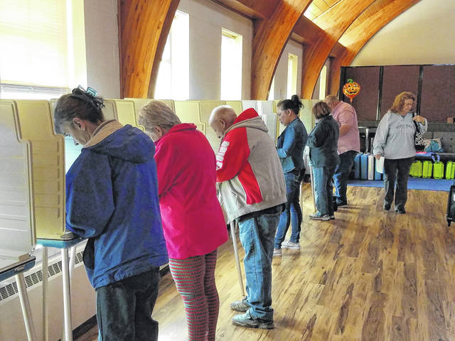 The general election polling site at South Side Church of Christ in Washington C.H. was busy throughout the day on Tuesday as residents took time to let their voices be heard. Volunteers at the site said they had a large number of voters turn out.