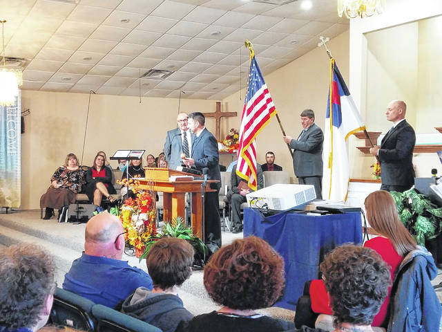 Anchor Baptist Church held its 10th anniversary celebration on Sunday with hundreds in attendance. During the morning service Dr. Jeremy Griffith passed the torch on to Dr. John W. Lewis, and a movie with photos from over the years was shown.