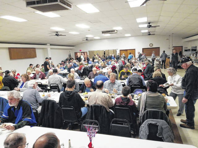 The American Legion Post 25 in conjunction with the Washington Shrine Club hosted a free meal for veterans on Monday evening at the post. Veterans from all over the county — and some from outside the county — joined for the evening event.