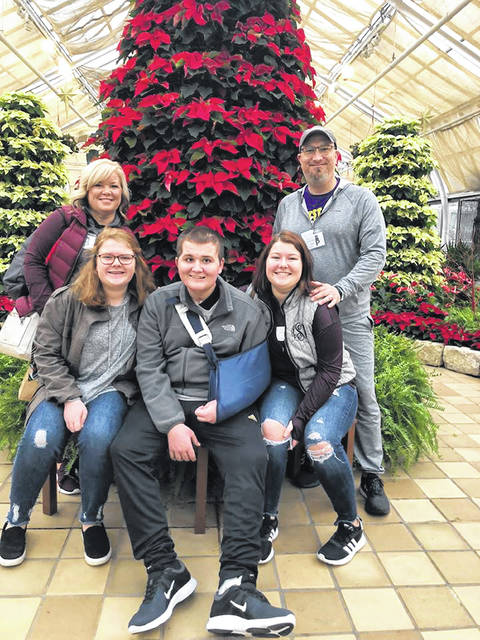 Coby Seyfang will return home this week following an accident on Thursday, Aug. 23 that led to months of recovery. Pictured (L to R): mom Heather Seyfang, sister Kenzie Seyfang, Coby Seyfang, sister Emma Seyfang and dad Derek Seyfang.
