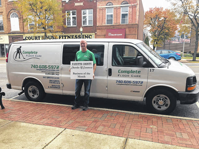 Complete Floor Care was selected by the Fayette County Chamber Ambassador Team as their November Business of the Month. Carpet, upholstery and tile cleaning can all be scheduled online by visiting www.completefloorcareohio.com or by calling 740-606-5972. Locally-owned and operated by Navy veteran, Todd Jackson, we appreciate his support of our community and of the Chamber of Commerce.