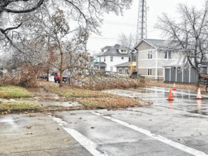 Ice storm causes outages