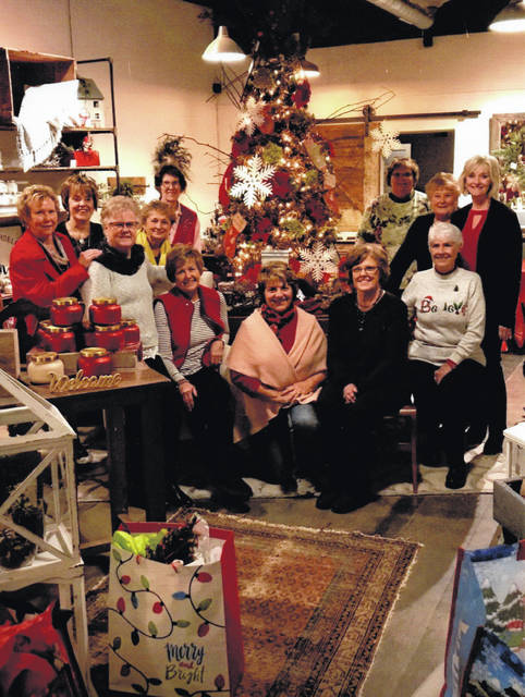 The Deercreek Daisies recently celebrated Christmas 2018 in Washington Court House. Pictured are members Connie Lindsey, Rita Lanman, Judy Gentry, Marty Cook, Barbara Vance, Billie Lanman, Shirley Pettit, Jeannie Miller, Julie Schwartz, Joyce Schlichter, Kendra Knecht and Emily King.