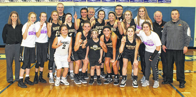 The Record-Herald took time this week to reflect on 2018 and the many news and sports stories from throughout the year. In the first part, the paper looks at January through March. In February, the Lady Panthers gathered on the floor at Washington High School following a 45-34 victory over the Lady Lions that gave Miami Trace an undefeated Frontier Athletic Conference championship with a record of 10-0. (front, l-r); Zoey Grooms, Morgan Miller, Gracie Lovett, Tanner Bryant, Gracee Stewart, Aubrey Schwartz; (second row, l-r); coach Kayla Dettwiller, Magarah Bloom, Aubrey McCoy, Tori Evans, Becca Ratliff, Olivia Wolffe, Shay McDonald, Cassidy Lovett, Olivia Fliehman, Victoria Fliehman, equipment manager Truman Runyon, head coach Ben Ackley; (in back, l-r); coaches Randy Rogers, Randy Welsh and Shawn Grooms.