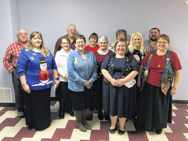 Jefferson Chapter #300 Order of the Eastern Star honored its Past Matrons and Patrons recently with a dinner. Pictured are Past Matrons and Patrons.
