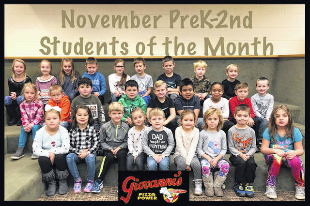 Miami Trace Elementary School announced its students of the month for November recently. The Pre-K through second grade students of the month were (L to R): front row: Hailey Queen, Claire Noble, Cohen Butts, Ava Hoppes, Carson Knisley, Rylyn Moseley, Violet Sims, Draco Holder and Ariyah Brown. Middle row: Sarafena Crabtree, Zakiah Weaver, Kendal Tyree, Cooper Maxie, Cooper Armstrong, Jonathan Cruz Paso, Asia Baker, Carter Gray and Cayden Woodward. Back Row: Jordyn Stevens, Maria Jackson, Alexis Thompson, Ryan Hatert, Haidyn Myers, Hagen Hastings, Eli Barnard, Easton Woods and Bodey Brackens.