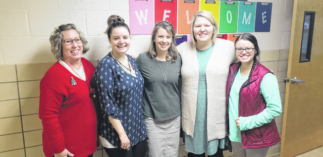 The first place team in the program was a group of teachers from Belle-Aire Elementary School: (left to right) Denise Johnson, Rachel Metcalf, Natalie Woods, Ashley Deatley and Jackie Schlippi.