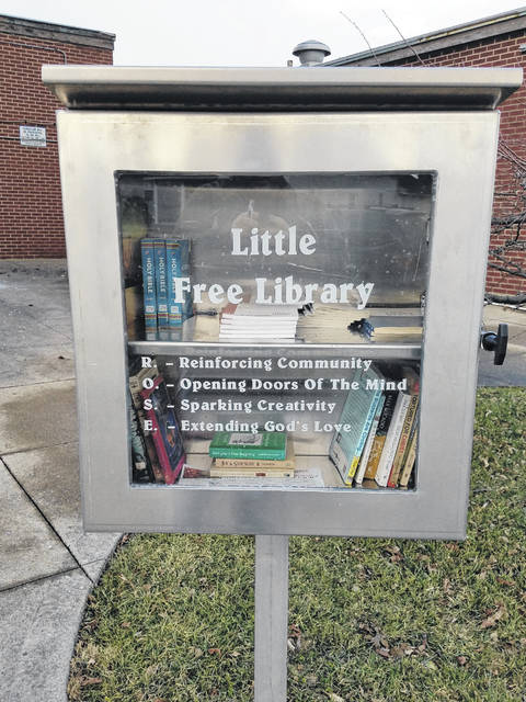 The Little Free Library at RACC.