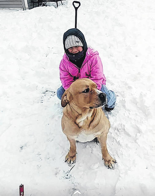Around nine inches of snow fell on Washington Court House over the weekend and the Record-Herald recently asked the community for photos on Facebook of the winter weather in their area. Here are some of the submissions received: Ariana Rico and her dog Kilo enjoyed playing together in the snow.