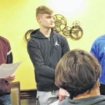 DECA students provide update to Altrusa