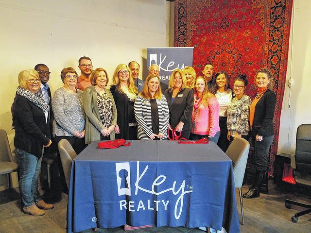 Members and ambassadors of the Fayette County Chamber of Commerce gathered at 138 S. Fayette St. in Washington Court House to welcome Key Realty with a celebratory ribbon cutting. This office was made possible through the work of the various members of the team and renovations by Angela Williams-Gebhardt.
