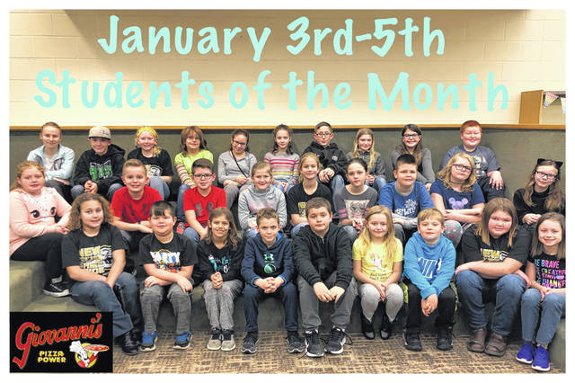 The Miami Trace Elementary School announced the January Students of the Month for the 3-5 grades. Front row (L to R): Joslin Steele, Austin Woods, Lily Siler, Reed Miller, Shane Skeeters, Tatum Stump, Silas Matheny, Molly Whiteside and Jenna Manns. Middle row: Madilynn McCown, Zane Carner, Brock McBee, Carter Lawhorn, Paige Fitzgerald, Karli Wilson, Aiden White, Eryn Fife and Baili Chambers. Back row: Cayla Gayheart, Gus Wilt, Jenna Bainter, Contessa Thomas, Summer Seese, Ellie Hoppes, Jayden Jackson, Victoria Johnson, Calli Tolbert and Logan Woods. Not pictured: Caleb Pitzer, Joey Juliano and Emerson VanLandingham.