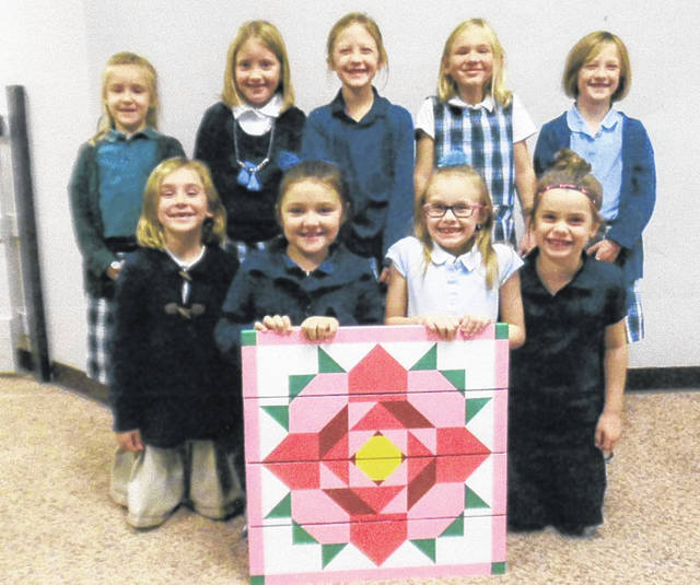 This barn quilt was painted by the first graders at Fayette Christian School; it is one of many class projects that will be on the auction block at the Fayette Christian School biennial auction. The auction will be held Saturday, March 16 and will be held at the Fayette County Fairgrounds' Mahan Building. Doors open at 9 a.m. and the auction begins at 10. Donations are currently being accepted, for donation information contact the school office at (740) 335-7262 or CC Bumpus at (614) 679-5089.