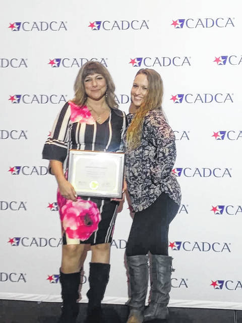 Christina Blair, DFC Director, and Nina Rains, coalition coordinator, received a graduation certificate from Community Anti-Drug Coalitions of America for completing the National Coalition Academy.
