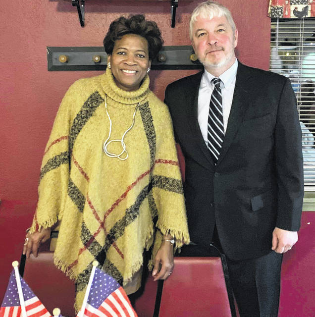 Newly-elected Ohio Supreme Court Justices Melody Stewart and Michael Donnelly were the keynote speakers at the Fayette County Democrats' Obama Legacy Dinner on Sunday.