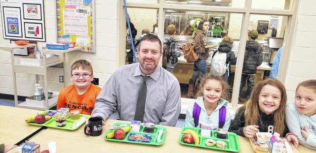 This week is National Breakfast Week, which was designed to show parents, students and school officials the benefits of starting the day with a healthy school breakfast. Miami Trace Local Schools Superintendent David Lewis took time to eat breakfast with some Miami Trace Elementary students earlier this week. Miami Trace offers a nutritional breakfast every day for students for only $1.40 and 40 cents if the student is on reduced meal cost.