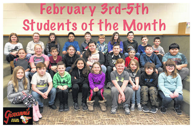 The Miami Trace Elementary School announced the January Students of the Month for the 3-5 grades. Front row (L to R): Kaytlyn Burns, Jacob Penwell, Meyer Bloom, Lawsihn Grooms, Zuriah Begley, Lucas Eldredge, Keira Leach, Sylar Lyons and Nori Ackley. Middle row: Kaylin Myers, Cayliana Hodge, Dylan Ely, Alexis May, Lindsey Lightle, Dane Wilt, Alyvia Atkinson, Jadn Jackson and Isaac Smith-Lopez. Back row: Ashlynn Bookwalter, Anna Eggleton, Elizabeth Watson, Bodie Gurr, Joey Johnson, Kaden Bryant, Natalie Hildreth, Jackson Miller, Justin Etzler and Garth Smith-Anderson. Not Pictured: Jordan Herrera and Abbie Cox.