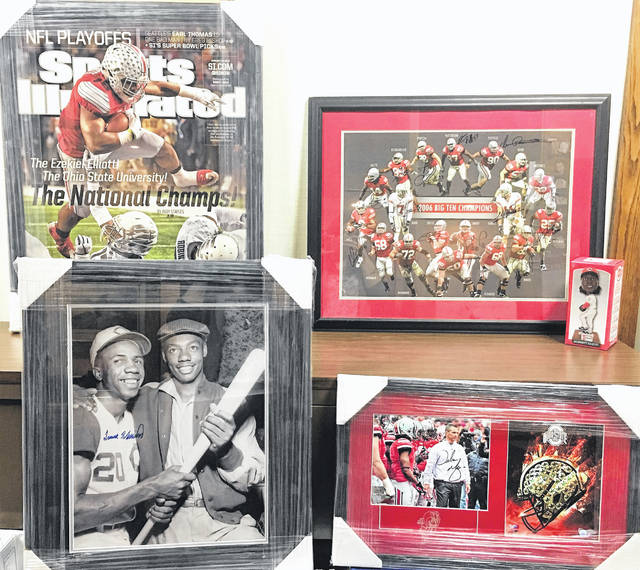 These are some of the memorabilia items that will be sold during the 47th annual Ernie Blankenship Radio-Telethon on March 27 in Hillsboro.
