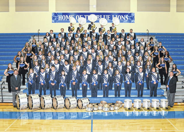 The Washington High School Blue Lion Marching Band. According to Matt Stanley, there are 135 members in the marching band this year.