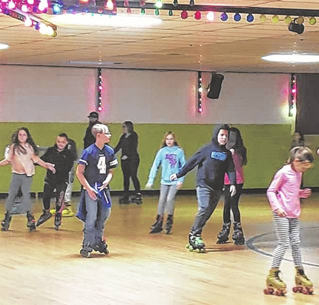 A skate party the PTO hosted earlier this year.