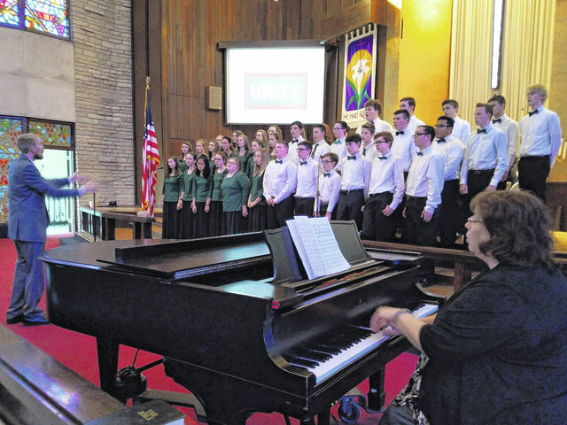 This Thursday the National Day of Prayer Task Force has invited the community to pray with each other for the country, health of its residents and more. Three events are currently planned and include a service at noon, 4 p.m. and 7 p.m. Pictured is the Fayette Christian School seventh through 12th grade choir that performed during the National Day of Prayer last year.