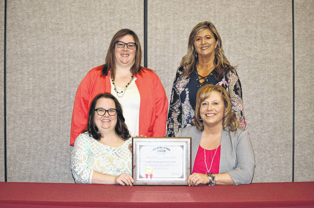 The Southern Ohio ESC Treasurer, Rachel Meyer (bottom right) and Fiscal Department employees Megan Thompson (bottom left), Amanda Ely (top left) and Rhonda Cochran (top right).