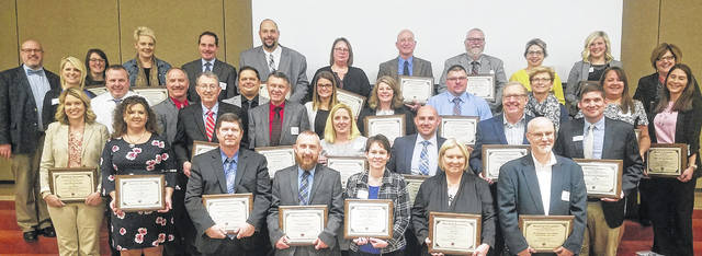 Many awards were presented to local individuals who contribute greatly to the successes in our schools during the 22nd-annual Four County School Board dinner and meeting at Laurel Oaks Career Campus.
