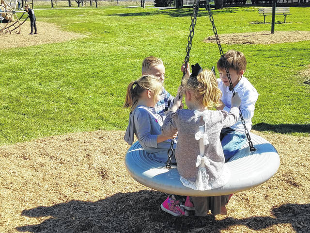 Several kids took advantage of the nice weather on Tuesday after school. Jaycee, Landon, Ryah and Ryatt enjoyed their time on the equipment at Eyman Park while temperatures stayed about 65 degrees throughout the afternoon.