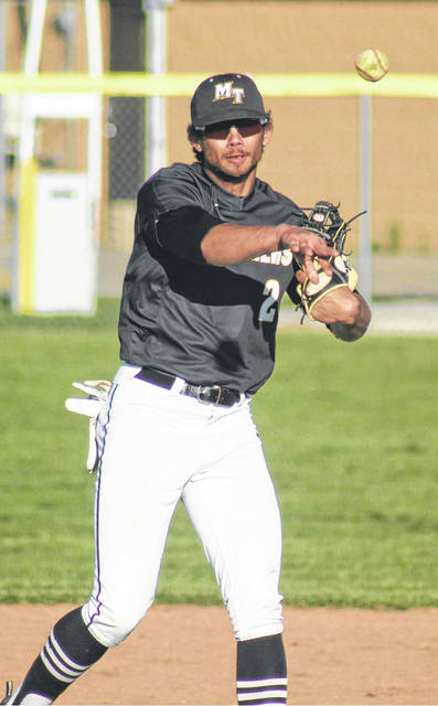 Dalton Mayer, Miami Trace shortstop, hit a grand slam home run Monday, April 15, 2019 in the Panthers' 7-1 win over Chillicothe.