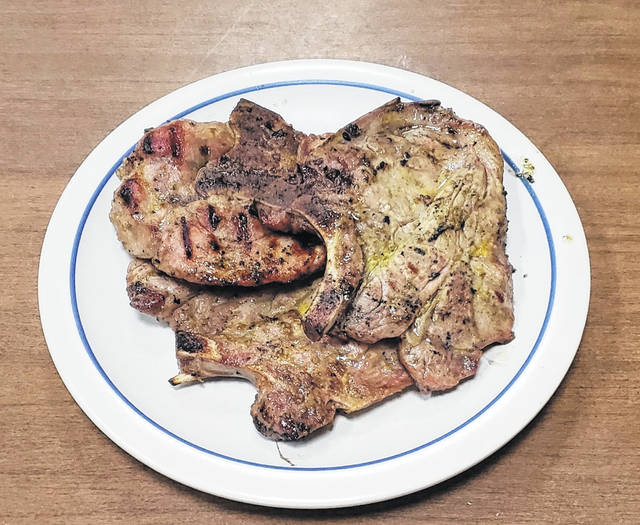 Melt-in-your-mouth fall-off-the-bone pork chops.