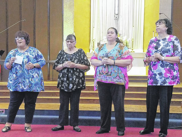The National Day of Prayer Task Force for Fayette County helped to spread the love on Thursday at the Grace United Methodist Church while praying for the community and nation. Sisters In Christ performed a piece of spiritual music for the congregation.