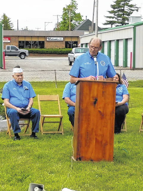 The Fayette County Veterans Service Commission held its annual Memorial Day ceremony at noon on Friday afternoon at the Old Pioneer Cemetery behind Dairy Queen in Washington Court House. Veterans service commissioner Jerry Savage served as the Master of Ceremonies for the event.