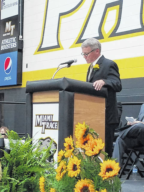 Miami Trace High School graduated the class of 2019 on Friday evening at the new high school among a crowd of parents, grandparents, aunts, uncles, cousins and friends. Principal Rob Enochs welcomed the crowd during the event.