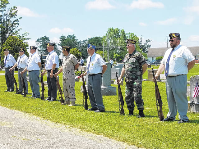 The Village of New Holland held its annual Memorial Day parade and program on Monday afternoon. Members of the Frankfort Honor Guard and New Holland VFW 8041 performed a 21-Gun Salute during the program.