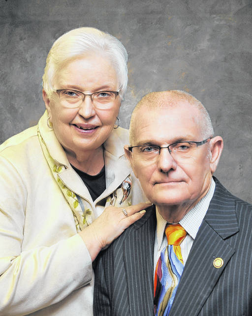 Carolyn DeWeese (left) with her husband, Jack DeWeese (right).
