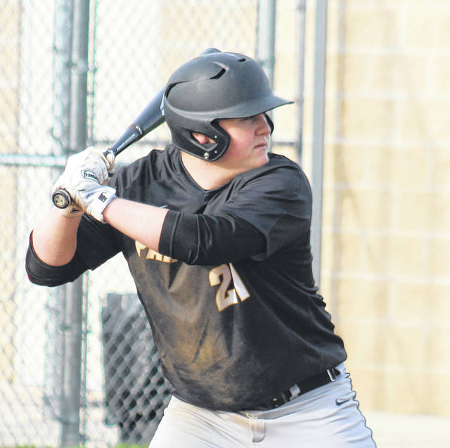 Jake Hoppes takes a turn at bat for Miami Trace during a non-conference game against Logan Elm Tuesday, April 30, 2019 at Miami Trace High School.