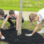 Panthers mulch to raise funds for football trip
