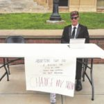 Local students rally at courthouse