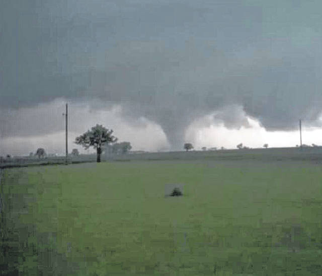 During the evening storms, Ryan Faulkner took this photo of what appears to be a tornado outside of Jeffersonville.