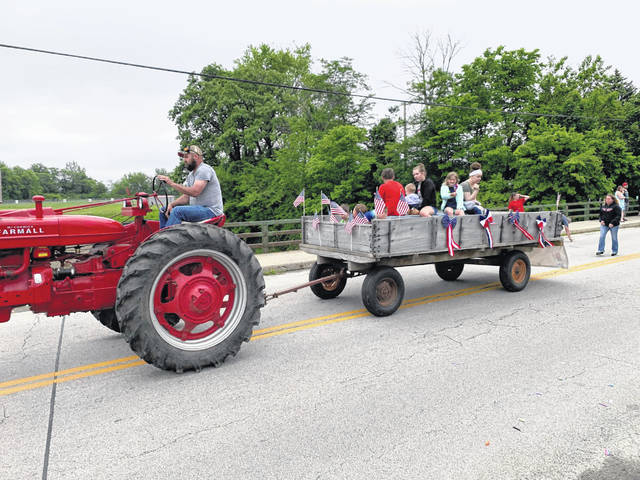 A tractor ride was part of Monday's Memorial Day parade in the Village of Jeffersonville.