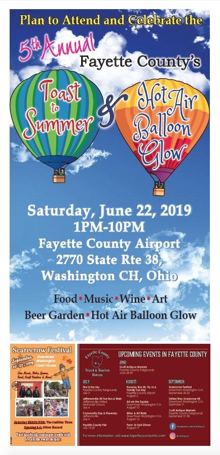 Toast to Summer & Hot Air Balloon Glow – June 2019