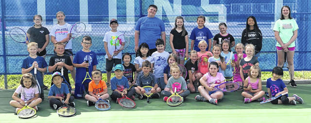 The Washington Blue Lion youth tennis camp wrapped up a three-day run on June 12, 2019. Above are campers who took part.