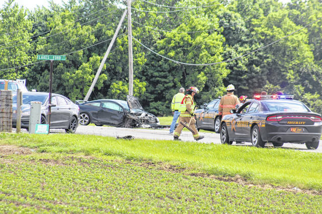 A two-vehicle accident occurred Thursday afternoon on State Route 41 South just north of Flakes Ford Road. According to the Fayette County Sheriff's Office, at 3:22 p.m. a black Honda traveling southbound went left of center, causing a northbound Dodge Dakota to take evasive action, and the two vehicles then struck. No serious injuries were reported.