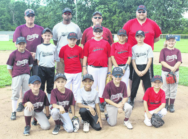 The National All-star team above, rallied from behind to win the Washington C.H. Little League Minors Division All-star game Friday, June 28, 2019, 15-13 over the American squad. The team is (front, l-r); Joseph Summers, Taven Farley, Matthew Alsop, Jack Hadden, Jamaal Robinson; (middle, l-r); Carter Davidson, Kaleb Taylor, Spencer Branham, Wyatt Sever, Matticks Hernandez, Collin Everhart, Savannah Rose; (back, l-r); coaches Scott Flowers, Brent Alsop, Mike Mickle and Colt Sever.
