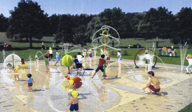 These are plans created by Vortex to show what is possible for the construction of the new splash pad in Washington Court House. These plans are not definite and may changed or be altered.