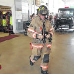 Library receives tour of fire department