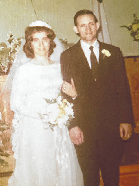 Sue and Harry Pollock will celebrate their 50th wedding anniversary on Aug. 10 with an open house.