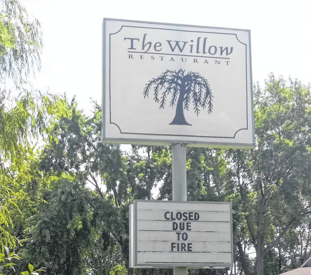 The Willow Restaurant located at 203 Glenn Ave. in Washington C.H. is closed until further notice following a fire on Sunday night.