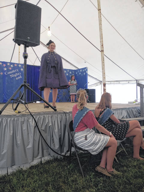 """Victoria Waits is a nine-year member of the Perry Peppy Farmers 4-H club. She entered and modeled two of her projects and received the recognition of """"top senior model."""" Victoria is also this year's Fayette County nominee for the Master in clothing educator award for the senior level of the state fair."""