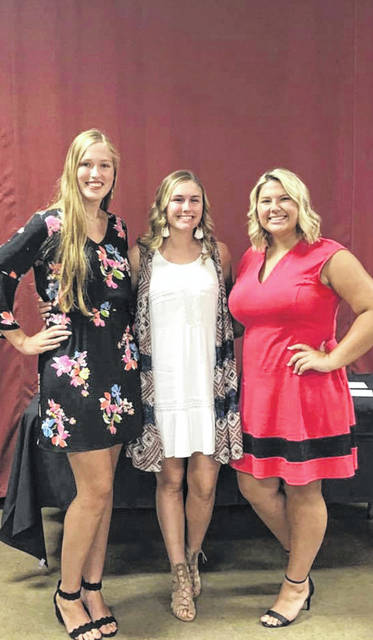 During the recent Queen's Tea held at the Mahan Building on the Fayette County Fairgrounds, the field of candidates was narrowed to just three; Andrea Robinson, Tori Evans and Abbi Pettit. The Queen will be crowned on Sunday, July 14 at 2:30 pm. during the opening ceremony.